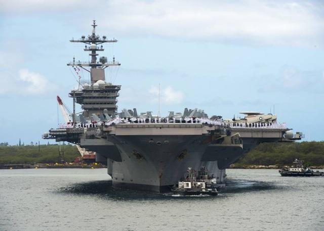 Tàu sân bay USS Carl Vinson tại cuộc tập trận RIMPAC 2018 (Ảnh: Quân đội Mỹ)