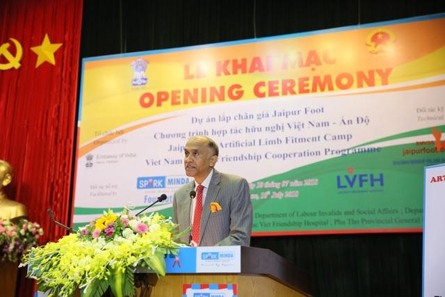 Đại sứ quán Ấn Độ phát biểu tại sự kiện