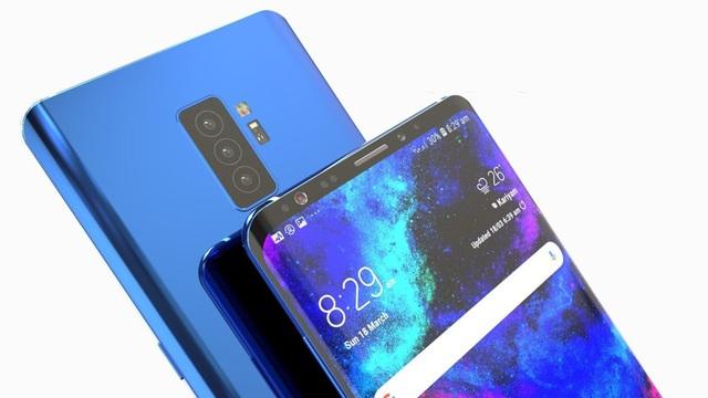 Concept Galaxy S10 với cụm 3 camera ở mặt sau, và 2 camera selfie phía trước.