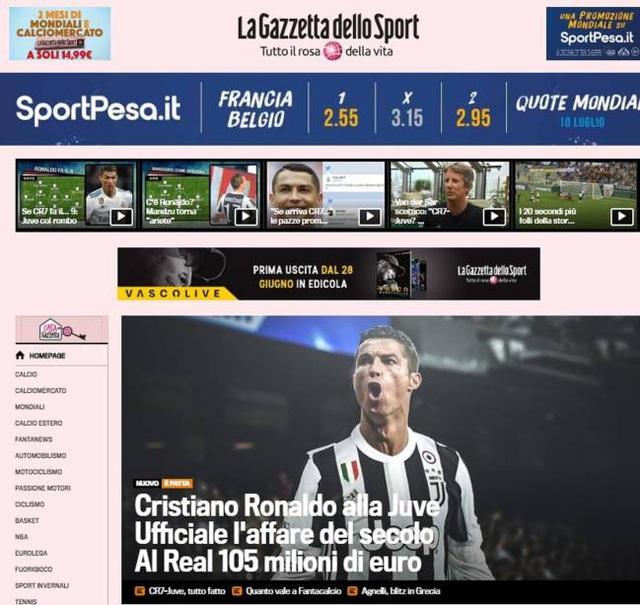 Tờ Gazzetta dello Sport (Italia) thông tin thêm rằng hợp đồng giữa C.Ronaldo và Juventus sẽ có thời hạn 4 năm với mức lương 30 triệu euro/năm. Tờ báo này cho hay C.Ronaldo sẽ tham dự tour du đấu cùng Juventus bắt đầu từ ngày 23/7