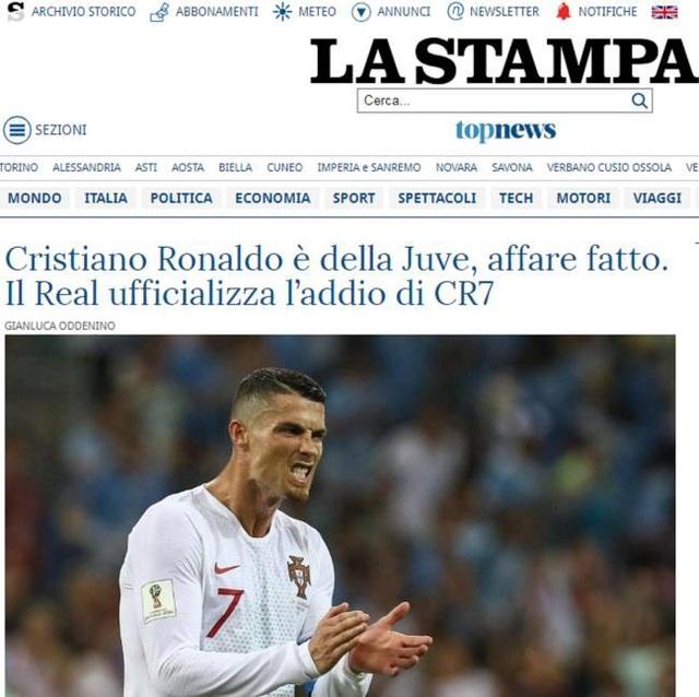 Tờ La Stampa (Italia) tính toán Juventus sẽ phải trả tổng cộng 350 triệu euro để có được sự phục vụ của C.Ronaldo trong vòng 4 năm (tính cả lương và phí chuyển nhượng)