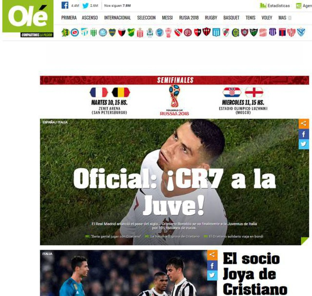 Tờ Olé (Argentina) đã gọi đây là thương vụ bom tấn. Mọi việc ban đầu chỉ xuất phát từ tin đồn nhưng sau đó nó đã trở thành hiện thực, khi Juventus chốt quá nhanh ở vụ này