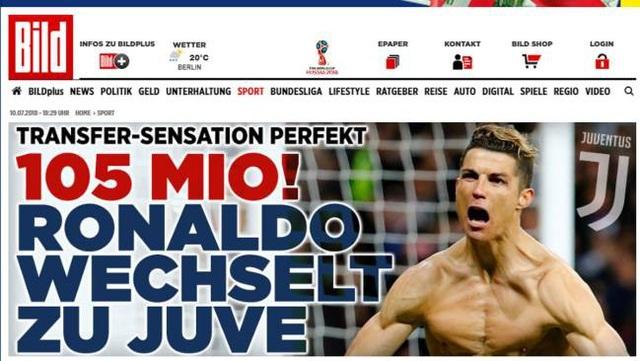 Tờ Bild (Đức) cho rằng sở dĩ C.Ronaldo rời Real Madrid vì mối quan hệ rạn nứt với Chủ tịch Florentino Perez. Họ cho rằng CR7 không hài lòng khi Real Madrid trả lương thấp hơn rất nhiều nếu so với Messi và Neymar