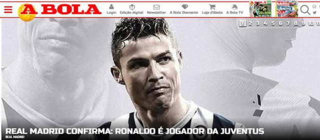 Tờ A Bola (Bồ Đào Nha) ngoài việc thông tin về phí chuyển nhượng, hợp đồng của C.Ronaldo... đã đưa ra chi tiết thú vị. Theo đó, Real Madrid sẽ là một trong những đối thủ đầu tiên của C.Ronaldo trong màu áo Juventus khi hai đội gặp nhau ở giải đấu giao hữu trên đất Mỹ