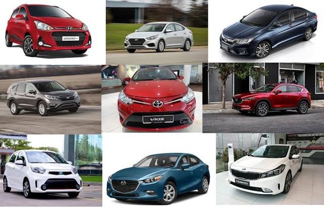 Top 10 mẫu xe bán nhiều nhất tháng 6/2018 tại Việt Nam chia đều cho các thương hiệu Toyota, KIA, Mazda, Honda và Hyundai.