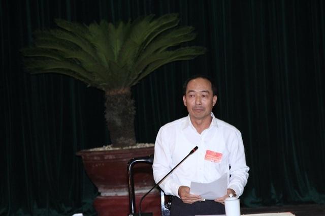 Ông Lê Tiến Lam - Giám đốc Sở Công Thương Thanh Hóa trả lời chất vấn