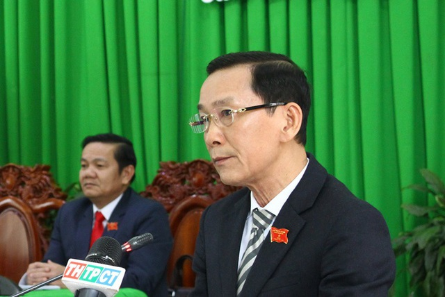 Ông Võ Thành Thống - Chủ tịch UBND TP Cần Thơ phát biểu tại kì họp thứ 9, HĐND TP Cần Thơ khoá IX, nhiệm kì 2016 – 2021 chiều 11/7