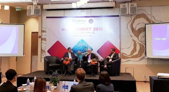 Đại diện Grant Thornton thông tin về cuộc khảo sát ngành dịch vụ khách sạn tại Việt Nam