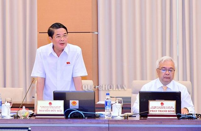 Chủ nhiệm UB Tài chính - Ngân sách Nguyễn Đức Hải góp ý về dự án luật