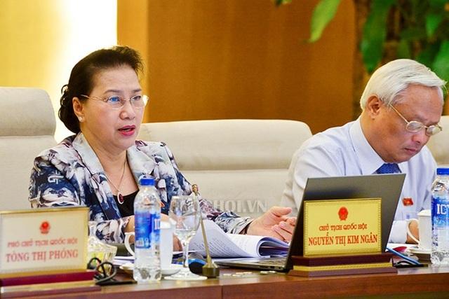 Chủ tịch Quốc hội Nguyễn Thị Kim Ngân cho ý kiến về dự án luật