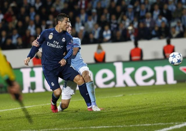 Bàn thắng vào lưới Malmo (tháng 10/2015) giúp C.Ronaldo vượt qua Raul để trở thành chân sút xuất sắc nhất lịch sử Real Madrid