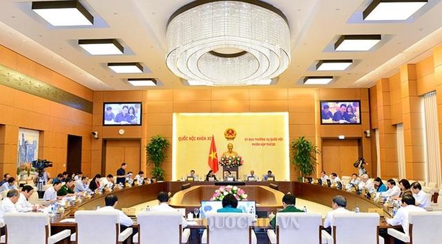 UB Thường vụ Quốc hội họp phiên họp thứ 25