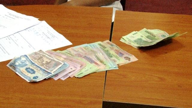 Số tiền hơn 9 triệu đồng mà Huy cướp được để trả nợ cá độ đá banh