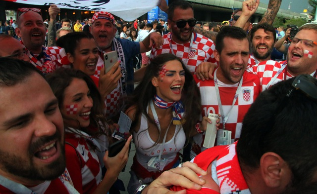 CĐV Croatia đang phấn khích tột độ