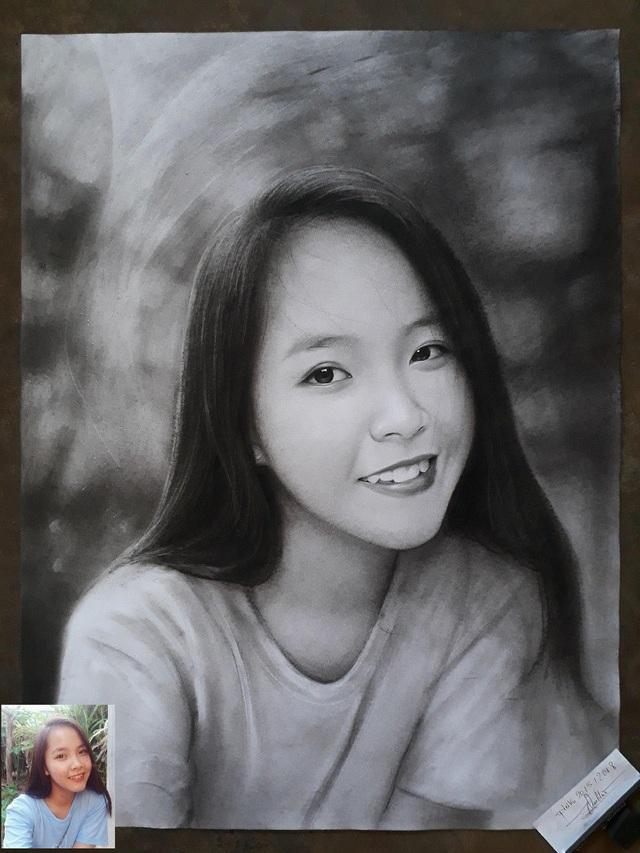 9x Gia Lai vẽ tranh Bác Hồ rất đẹp - 4