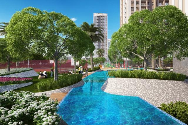 Gem Riverside được thiết kế theo phong cách resort với gần 70% diện tích dành cho thiết kế cảnh quan, công viên cây xanh và các tiện ích nội khu