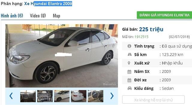 Một chủ nhân do muốn lên đời xe nên rao bán lại chiếc Hyundai Elantra 2009 màu trắng, nhập khẩu này với giá 225 triệu đồng.
