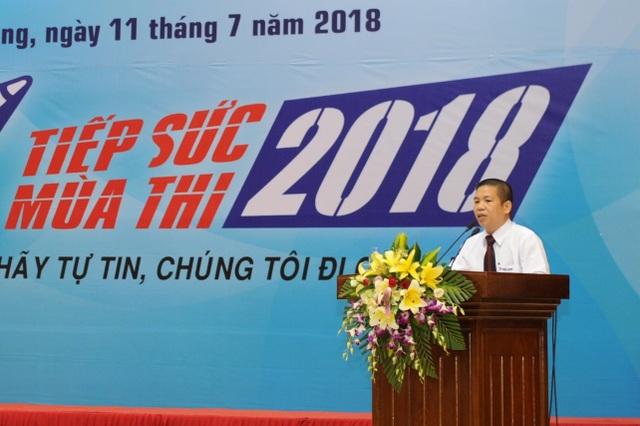 Đại diện Tập đoàn Thiên Long phát biểu tại Hội nghị Tổng kết Tiếp sức mùa thi 2018.