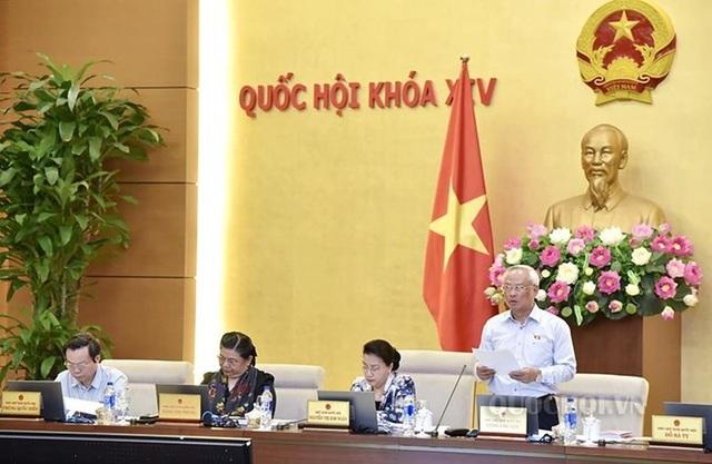 Phó Chủ tịch Quốc hội Uông Chu Lưu điều hành phiên thảo luận về luật Phòng chống tham nhũng sửa đổi