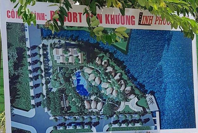 Phối cảnh khu resort của Công ty Linh Phương.