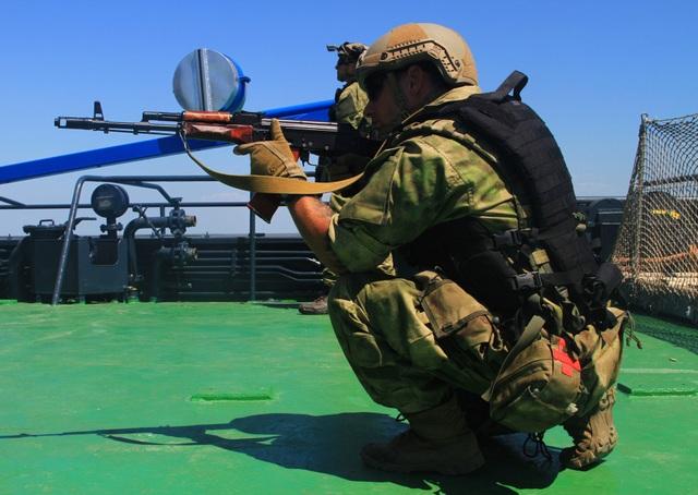 Lực lượng đặc nhiệm Ukraine tham gia tập trận Sea Breeze năm nay. (Ảnh: Sputnik)