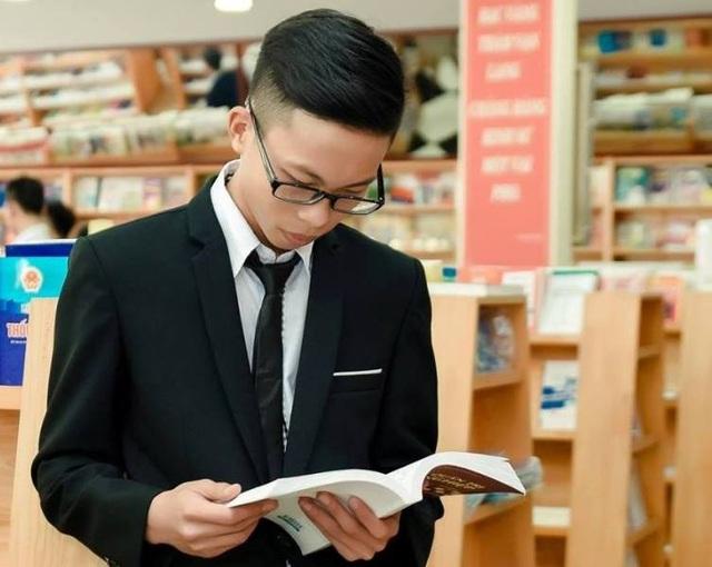 Lê Hoàng Thái là học sinh nằm trong tốp đầu của Trường THPT Quảng Xương 1 (Ảnh: NVCC)