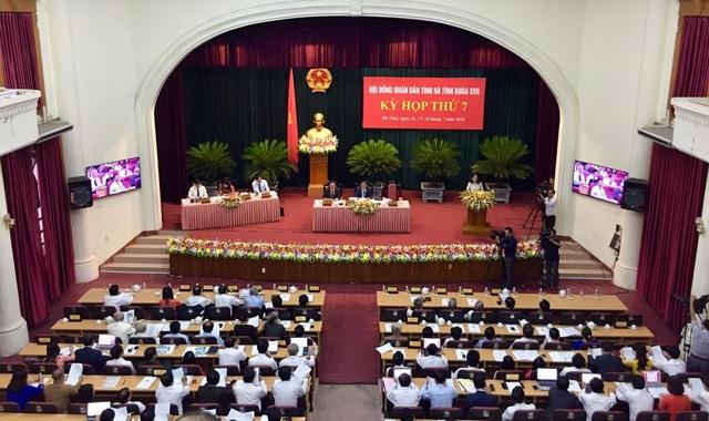 Toàn cảnh kỳ họp thứ 7, HĐND tỉnh Hà Tĩnh khóa XVII