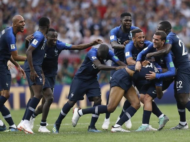 Dù còn trẻ nhưng Pháp đã thể hiện bản lĩnh ở World Cup 2018