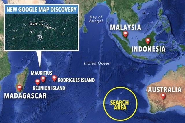 Các mảnh vỡ được cho là có liên quan đến MH370 từng được tìm thấy gần đảo Mauritius. (Ảnh: Google Maps)