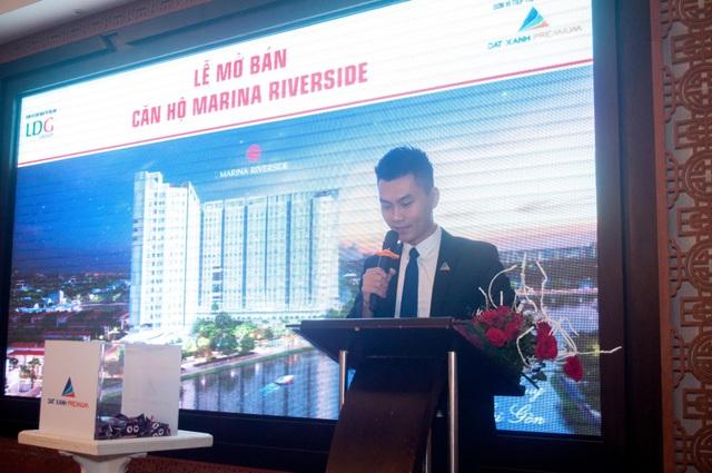 Ông Nguyễn Quốc Qúy – Tổng Giám đốc Công ty Cổ phần Đất Xanh Premium phát biểu tại Lễ mở bán