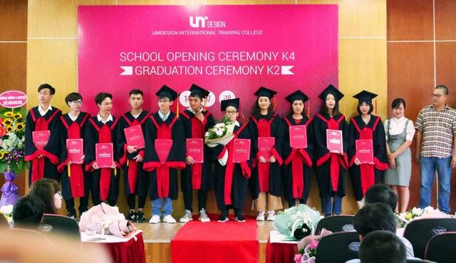 Các học viên xuất sắc của Lớp Thiết kế đồ họa K2 UniDesign.
