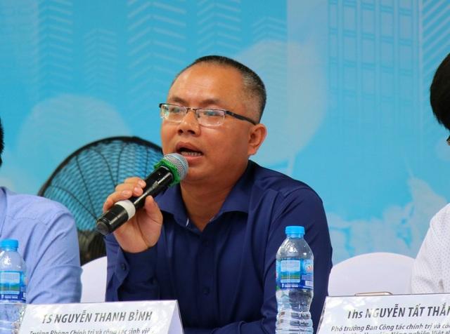 TS. Nguyễn Thanh Bình (Trưởng phòng Chính trị và công tác sinh viên, ĐH Khoa học tự nhiên – ĐHQGHN).