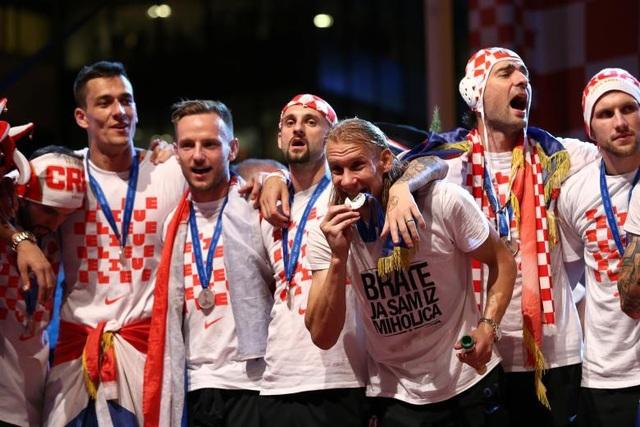 Những người hùng Croatia trong lễ mừng công