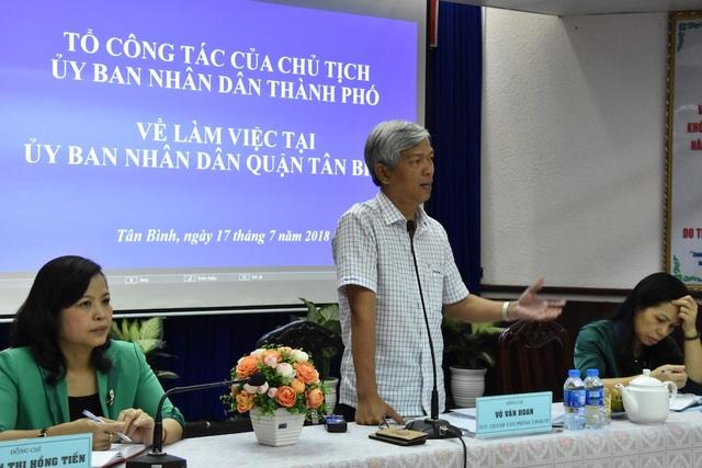 Chánh Văn phòng UBND TPHCM Võ Văn Hoan đề nghị quận Tân Bình đẩy nhanh tiến độ giải phóng mặt bằng dự án metro số 2