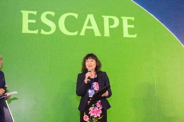 Bác sĩ Lynette Moey, Giám đốc nhánh Dược phẩm của Bayer tại Việt nam chia sẻ cam kết mạnh mẽ của Bayer trong lĩnh vực chăm sóc sức khỏe phu nữ tại Việt Nam.