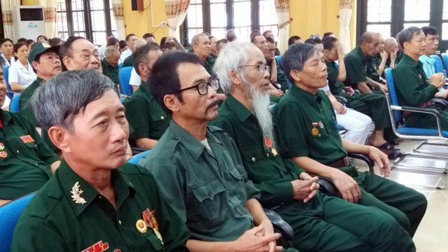 Các thương bệnh binh tại Trung tâm điều dưỡng thương binh Kim Bảng (huyện Kim Bảng).