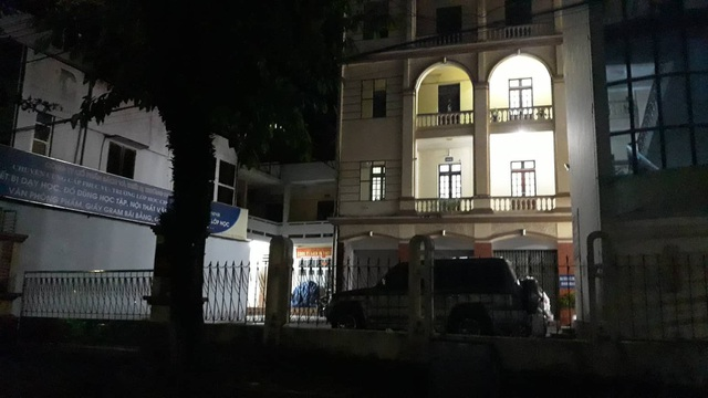 Sở GD&ĐT Hà Giang vẫn sáng đèn lúc 1h sáng để rà soát sai phạm điểm thi (Ảnh: T. Hùng).