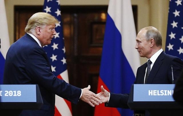 Tổng thống Trump và Tổng thống Putin trong cuộc gặp tại Helsinki ngày 16/7 (Ảnh: AP)