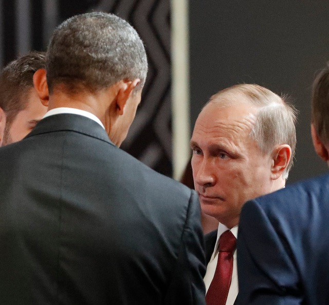 Ông Obama gặp ông Putin tại phiên khai mạc của Diễn đàn Hợp tác Kinh tế châu Á-Thái Bình Dương (APEC) ở Lima, Peru. (Ảnh: AFP)