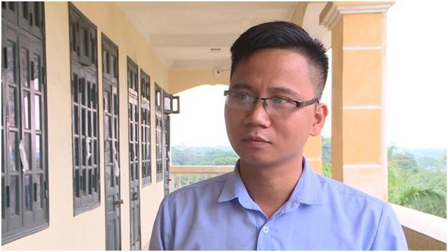 Thầy giáo Nguyễn Thao Thanh (giáo viên trường THCS Tây Tựu, Bắc Từ Liêm, Hà Nội).