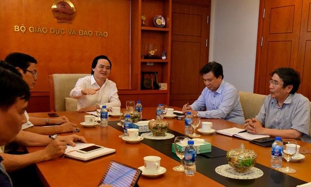 Bộ trưởng Phùng Xuân Nhạ - Trưởng Ban chỉ đạo đã họp với lãnh đạo Ban chỉ đạo thi THPT quốc gia năm 2018