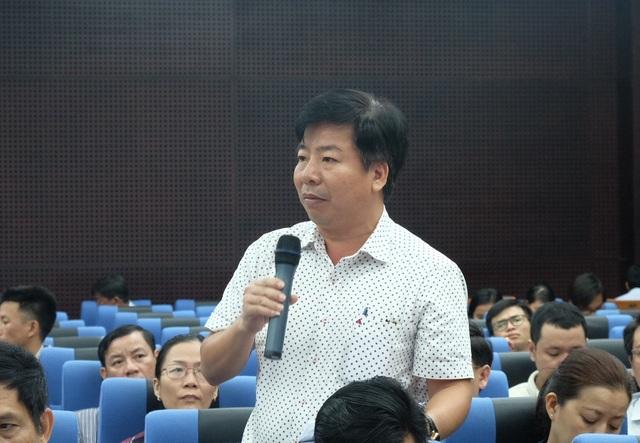 Ông Nguyễn Quang Vinh - PGĐ Sở TN&MT Đà Nẵng trả lời báo chí về chủ trương thu hồi mốt số đất dự án của Đà Nẵng
