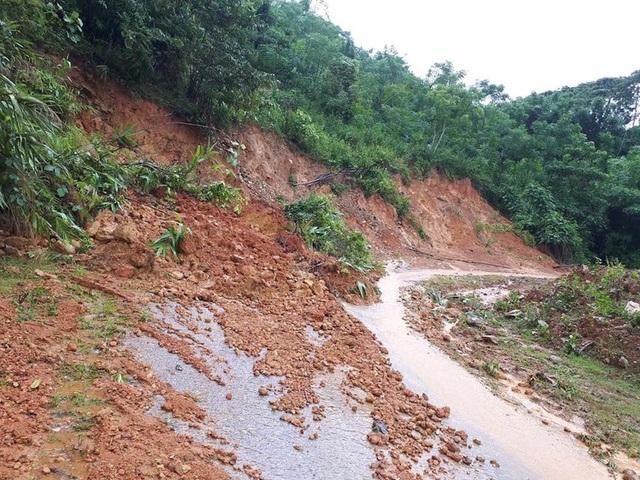 Núi sạt lở ở bản Pù Khóng, xã Đồng Văn, Quế Phong.