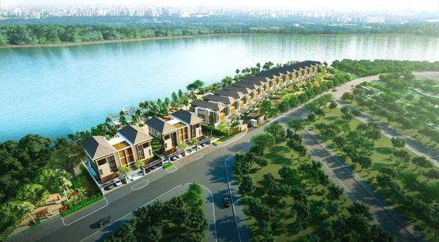 Dự án biệt thự ven sông hiếm hoi được ưu ái đặt trong khu hoàn toàn biệt lập, an ninh 24/24.