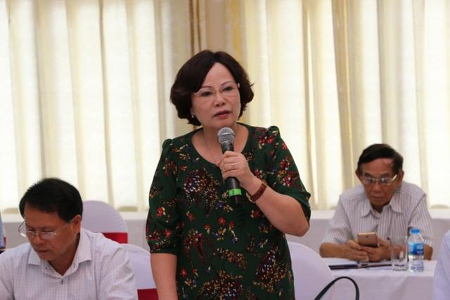 Bà Nguyễn Thị Kim Hải, Chủ tịch Hội Khuyến học Phú Thọ.