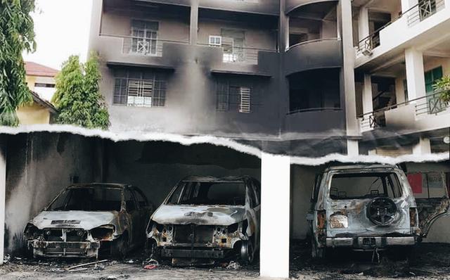 Hiện trường trụ sở UBND tỉnh Bình Thuận trong sự cố vừa qua