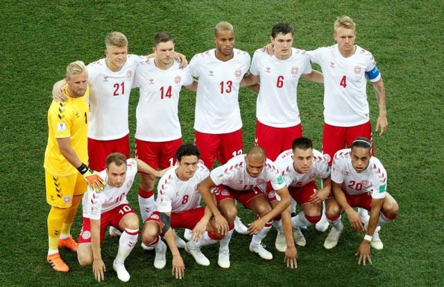 Đội hình ra quân của Đan Mạch, đội bóng Bắc Âu chưa hề thua ở vòng bảng