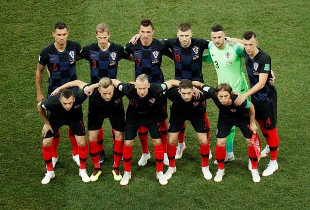 Đội hình ra quân của Croatia, đội bóng này thắng cả ba trận ở vòng bảng