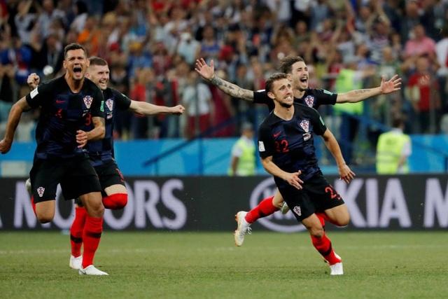 Niềm hạnh phúc của Croatia sau khi có được chiến thắng