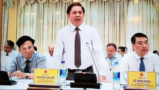 Bộ trưởng GTVT Nguyễn Văn Thể phát biểu chiều 2/7